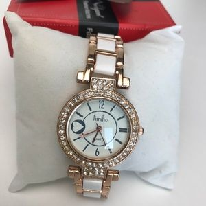 Timiho White & Rose Gold Watch